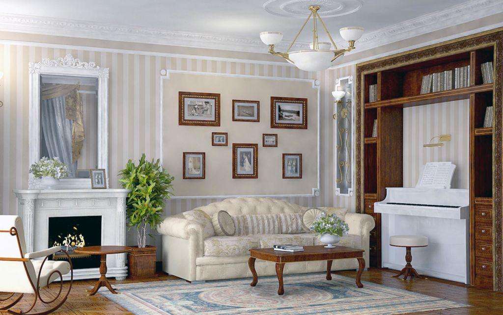 В какой цвет покрасить стены в гостиной и зале