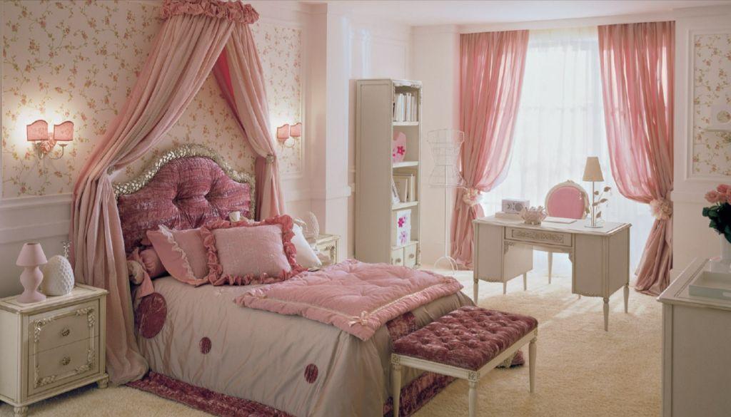 Оптимальный дизайн спальной комнаты для девочки с рабочим местом