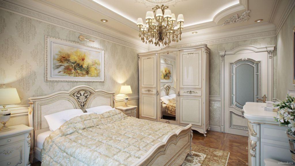 Картины в классической спальне помогают создать тёплую атмосферу уюта и спокойствия