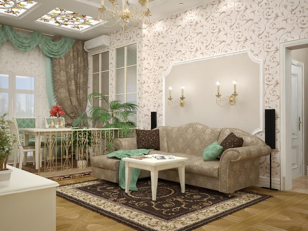 Маленькая гостиная в стиле барокко