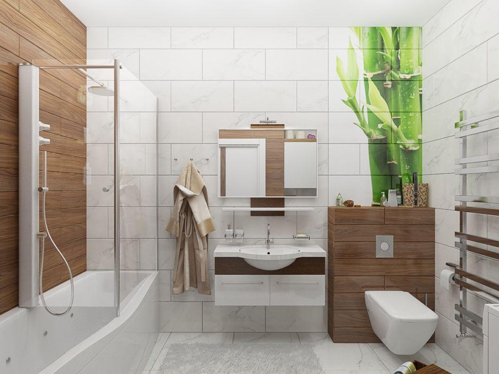 Ванная в эко стиле: природный оазис дома