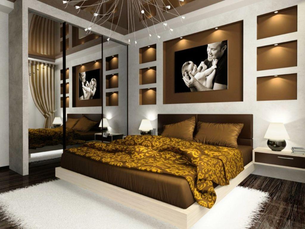Спальня модерн в кофейных тонах