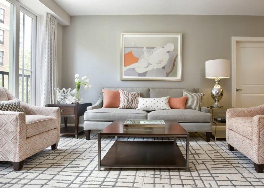 При правильном распределении оттенков вы можете создать уютную и спокойную обстановку