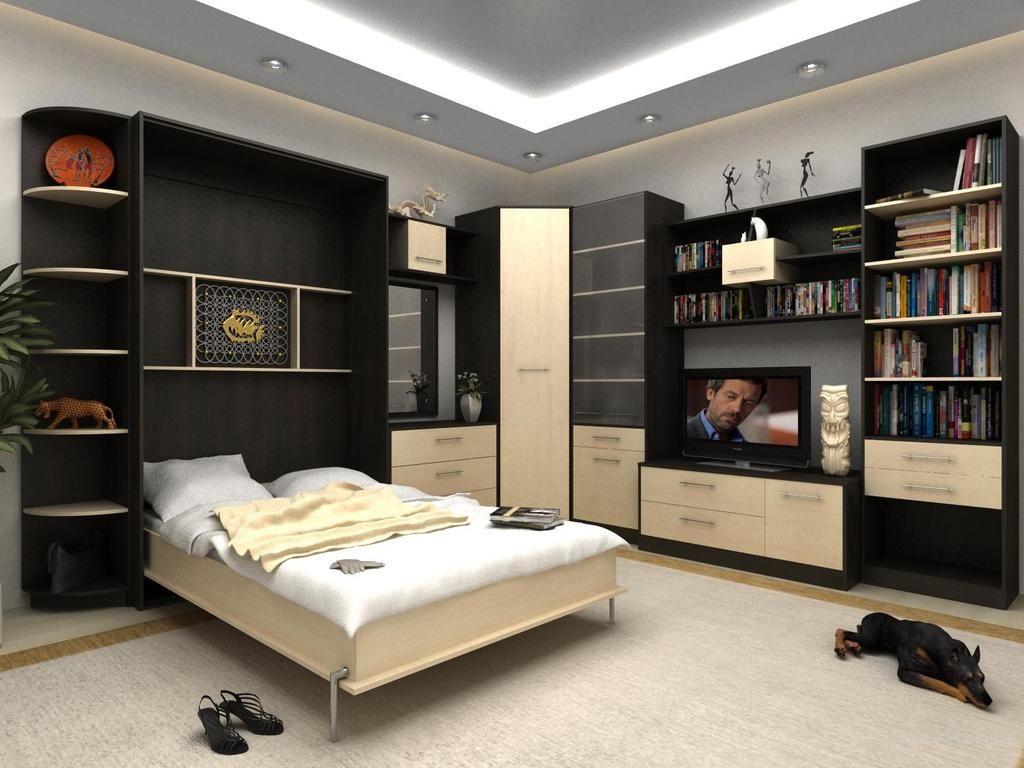 Откидная кровать, встроенная в шкаф