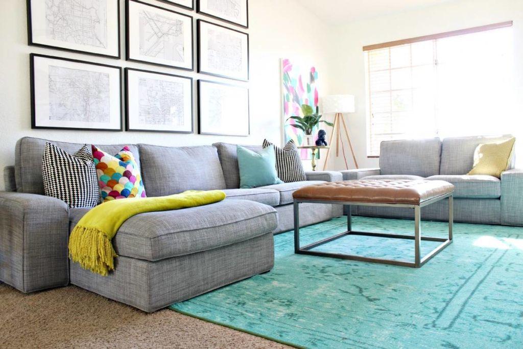 Сочетание цветов в интерьере гостиной – это главное, что определяет стиль помещения