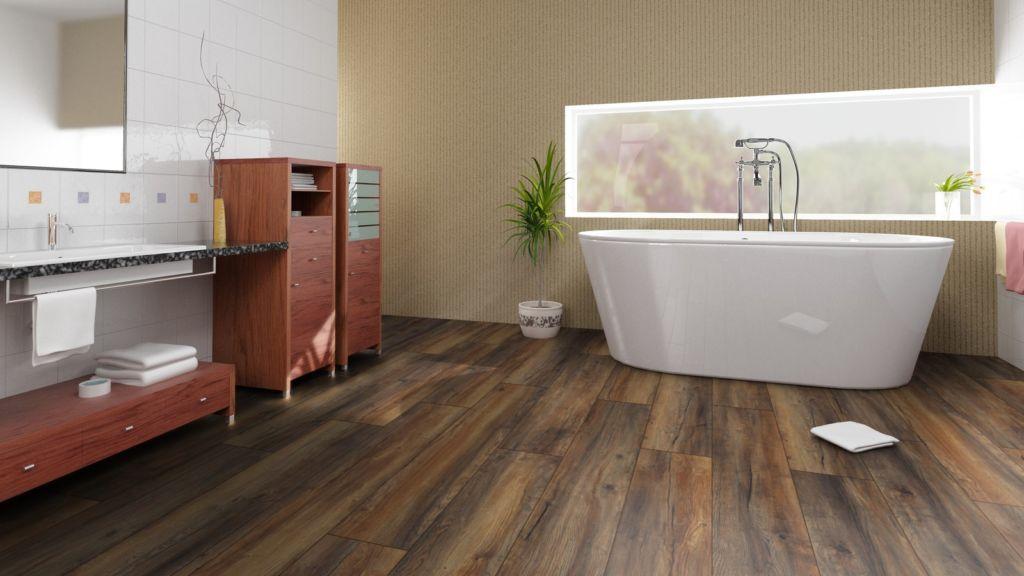 Влагостойкий и водостойкий ламинат для ванной