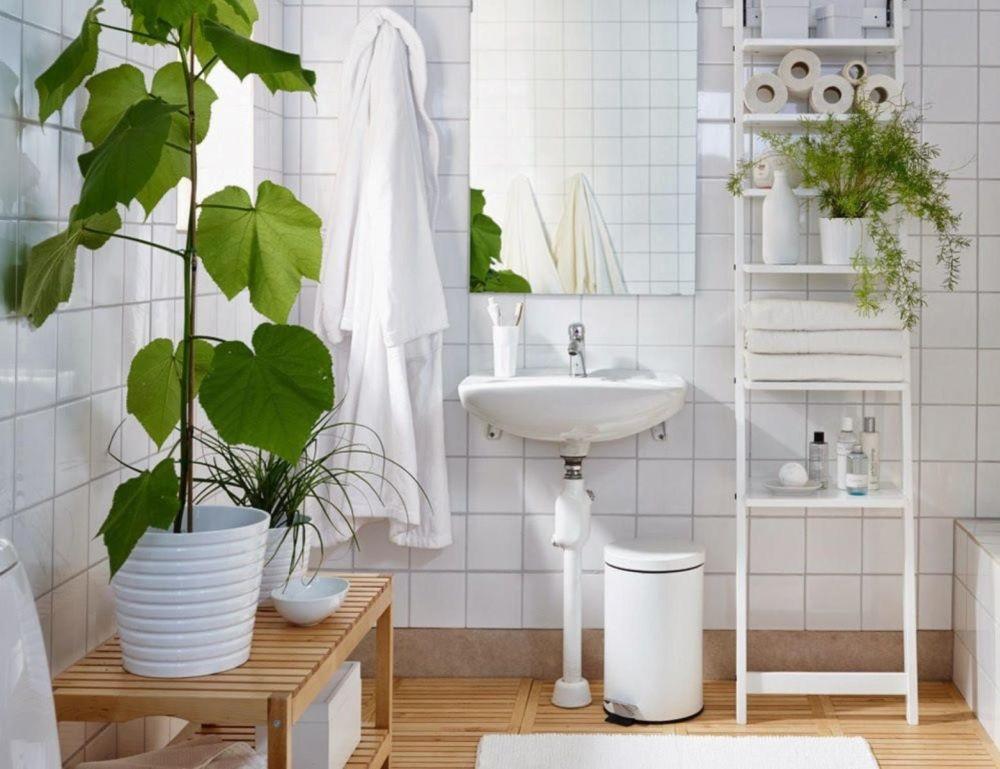 Атмосфера в ванной часто напоминает густой тропический лес