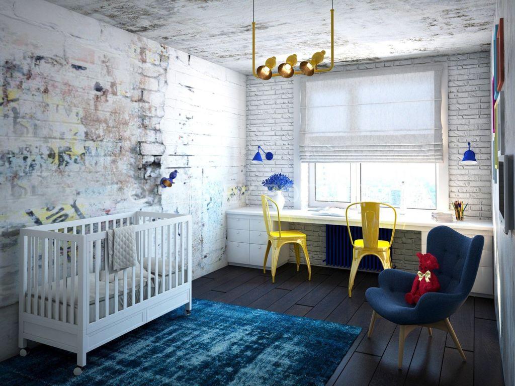 Комната для новорожденного в стиле лофт