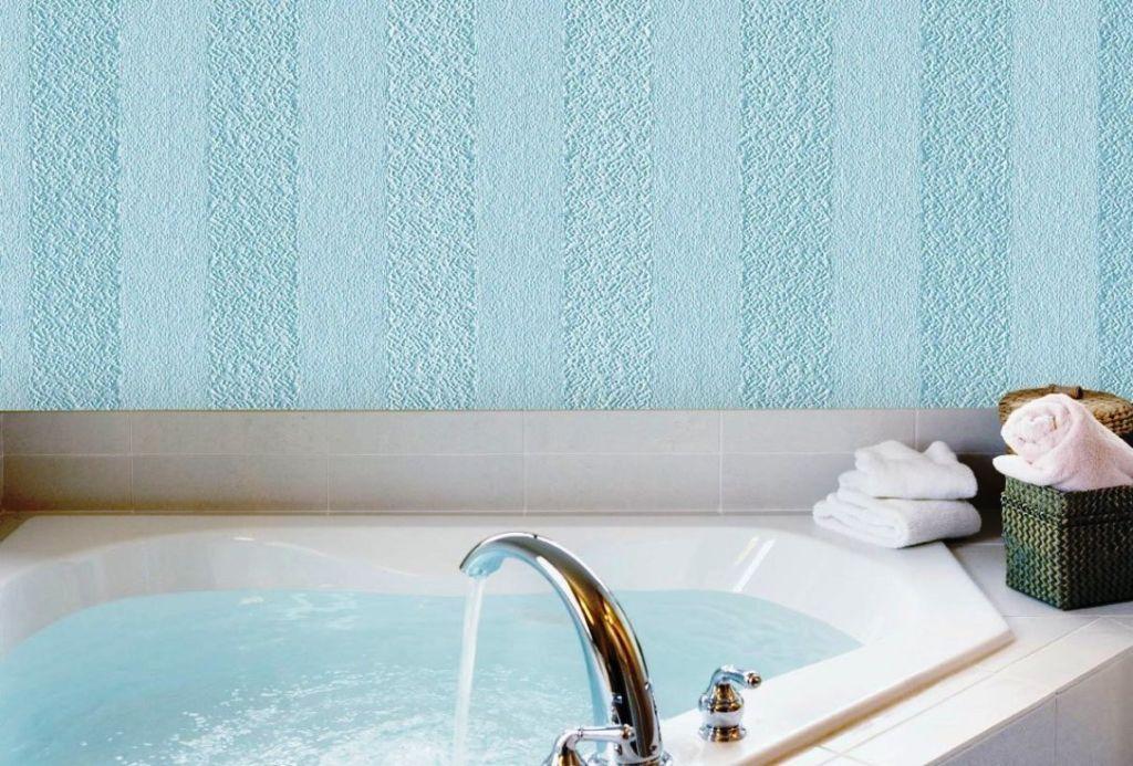 Оригинальный способ отделки стен в ванной комнате, который удивит практичностью и красотой - жидкие обои