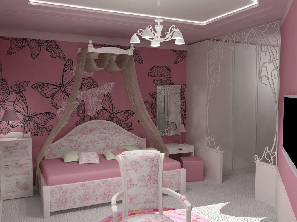 Детская спальня для девочки - бабочки