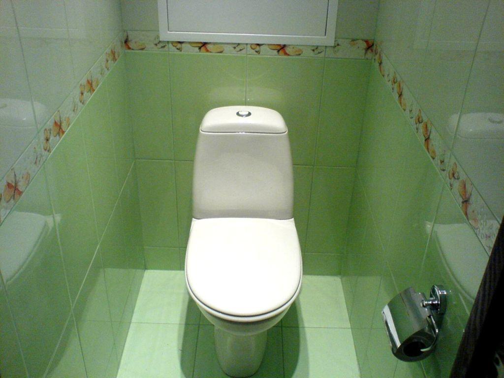 Зеленые цвета в дизайне туалета