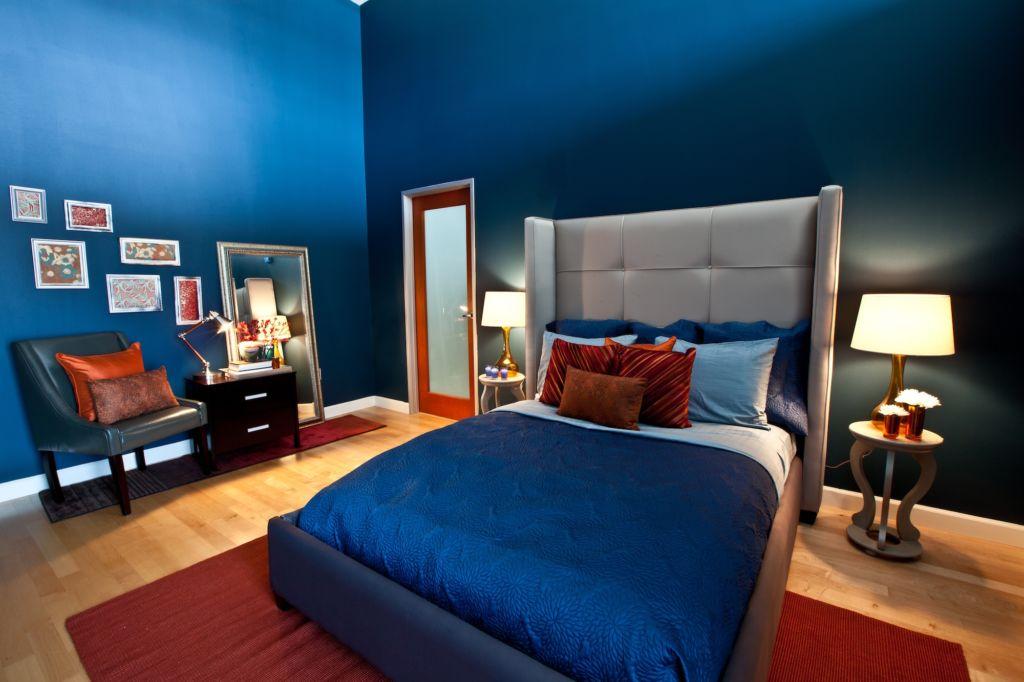 Синий цвет лучше всего смотрится при правильном освещении