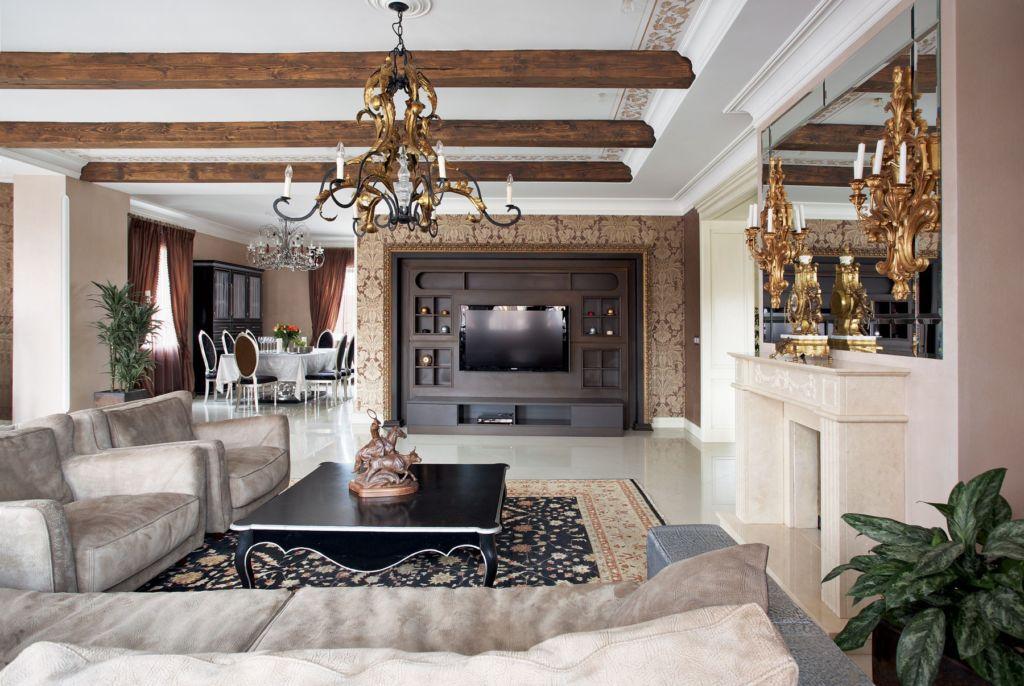 Интерьер дома в стиле эклектика