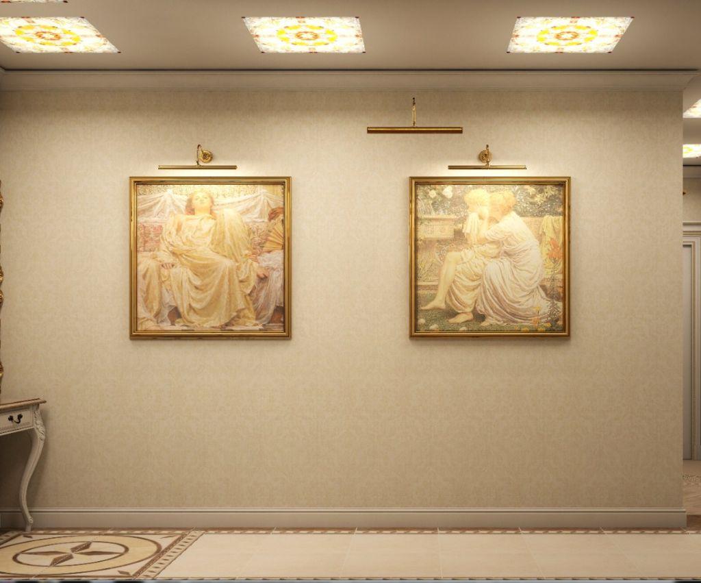 Правильная подсветка на стенах или потолке сделает картины более привлекательными