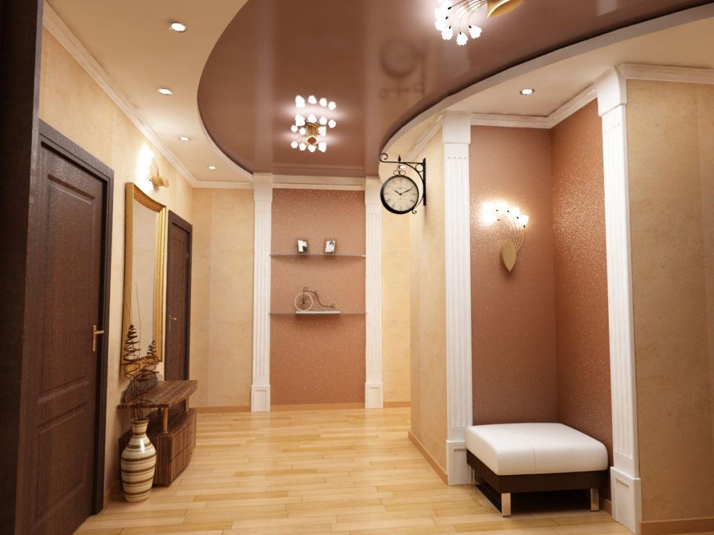 С помощью декоративных полотнищ возможно придать коридору визуальный простор
