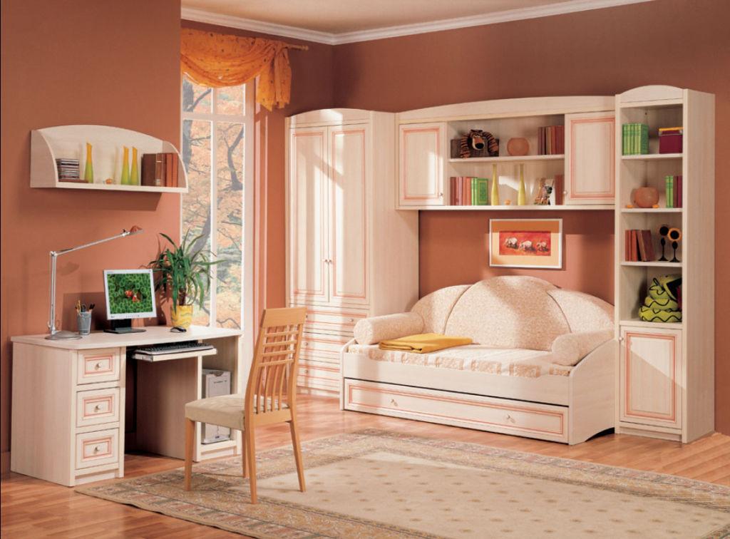 Мебель в современном стиле в спальню для девочки подростка