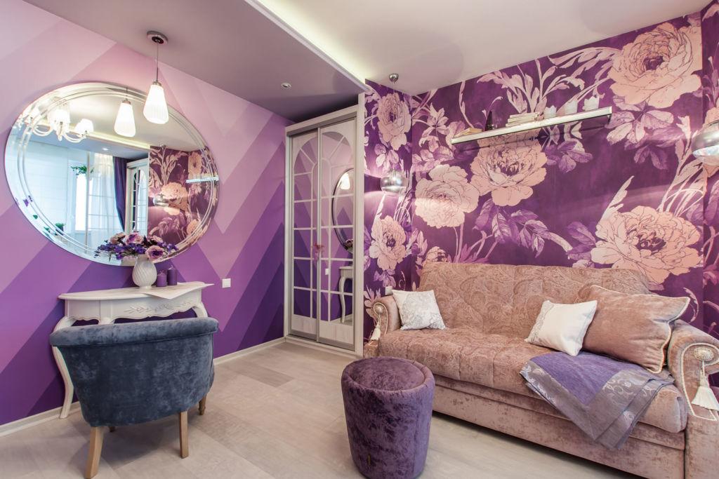 Нежно - лиловые стены
