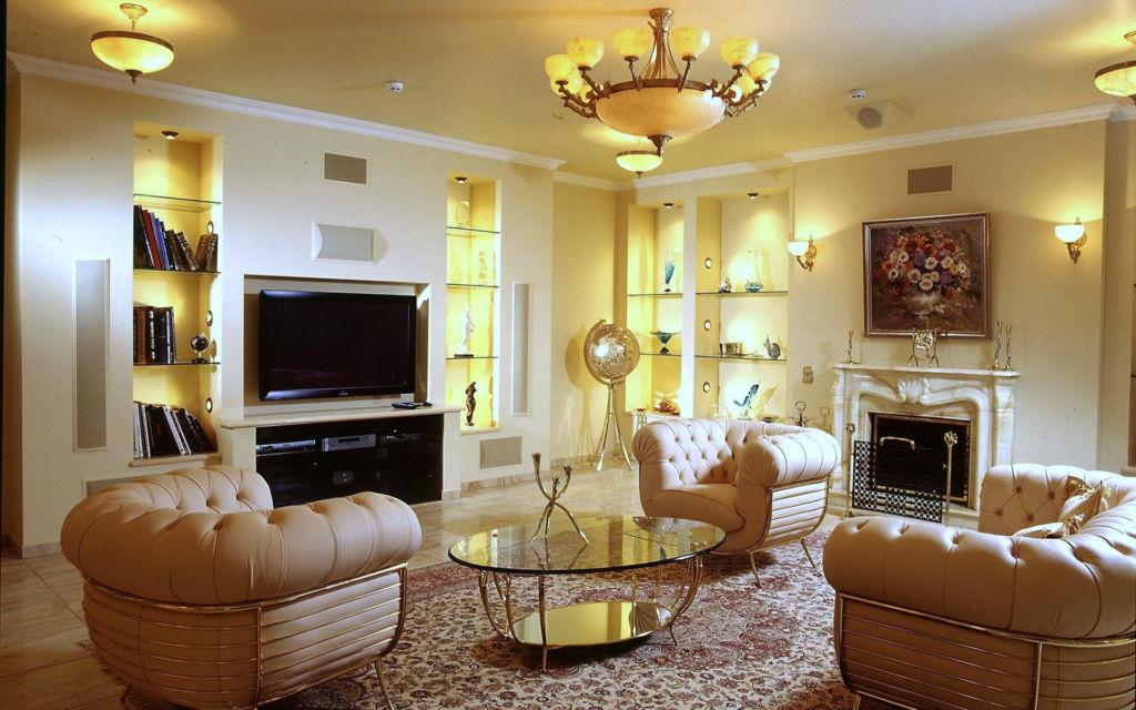 20 вариантов освещения в гостиной и классификация светильников