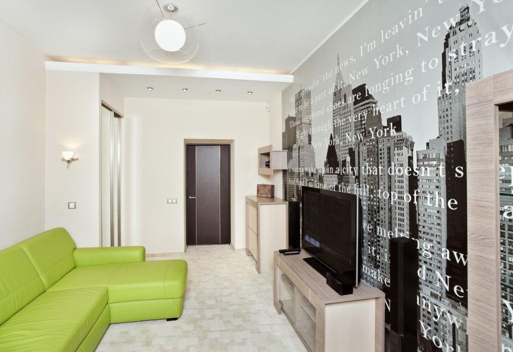 Фотообои в гостиной, они помогут красиво и оригинально оформить дизайн