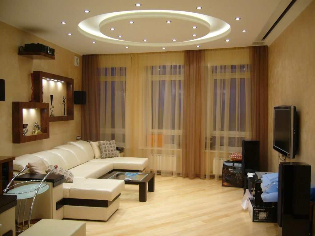 Вариант освещения в гостиной