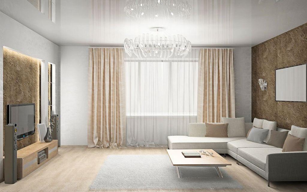 Белый потолок делает комнату выше, позволяет избавиться от давления, исходящего от стен в ограниченном пространстве