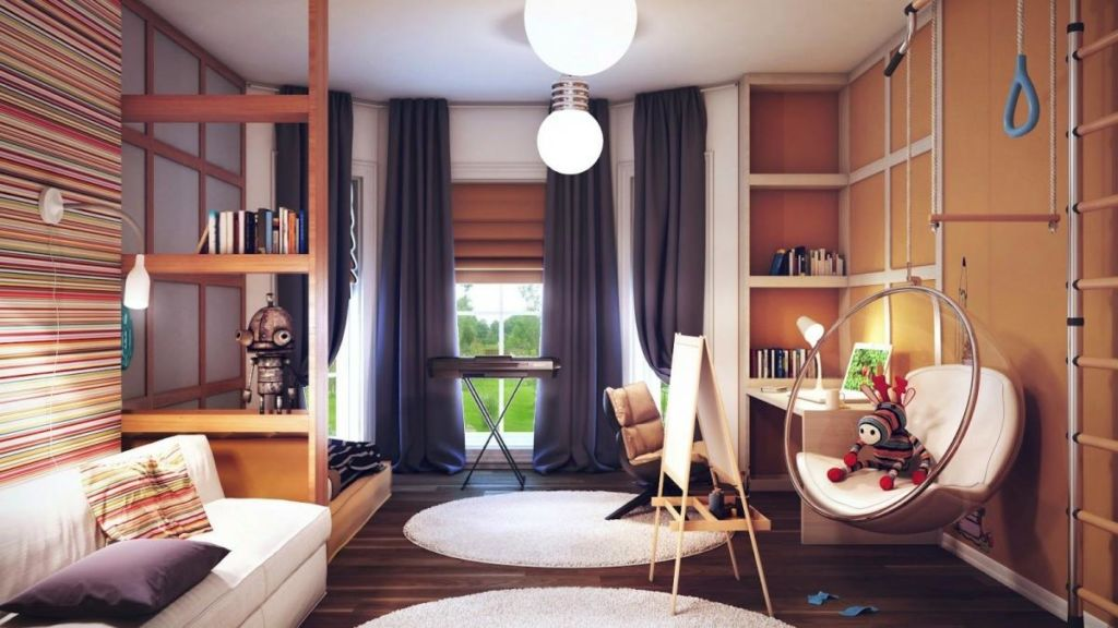 Стеллаж — это идеальный вариант зонирования комнаты