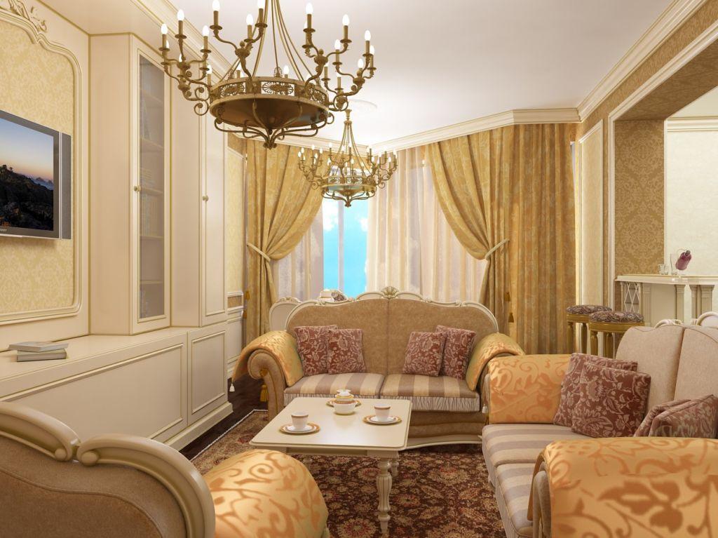 Стиль барокко для гостиной