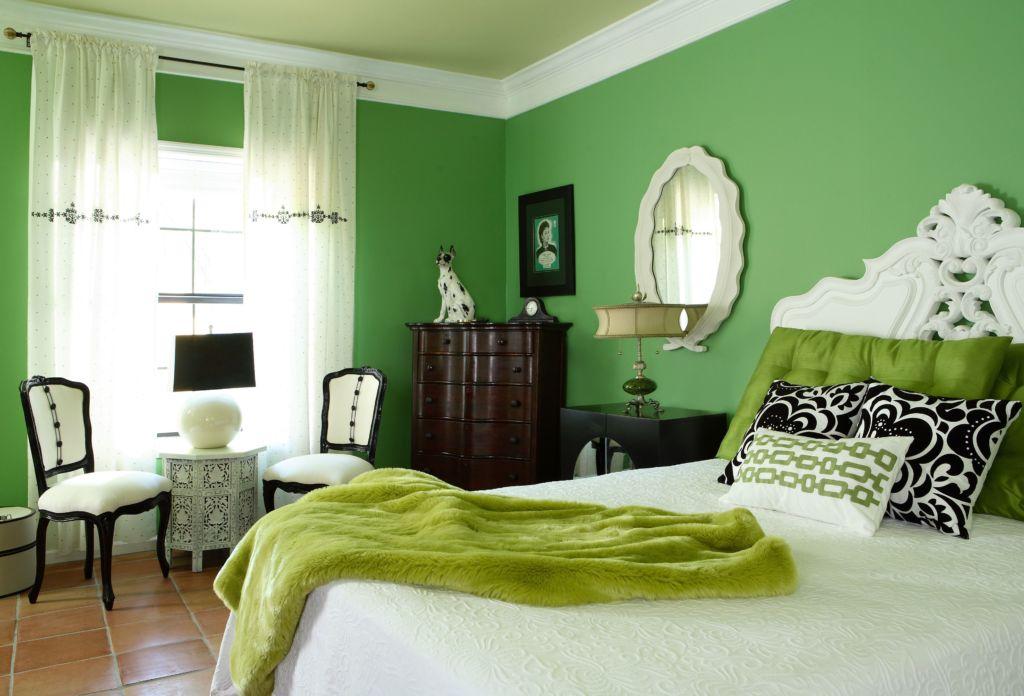 Зеленая спальня – очень хороший вариант, даже с точки зрения психологии
