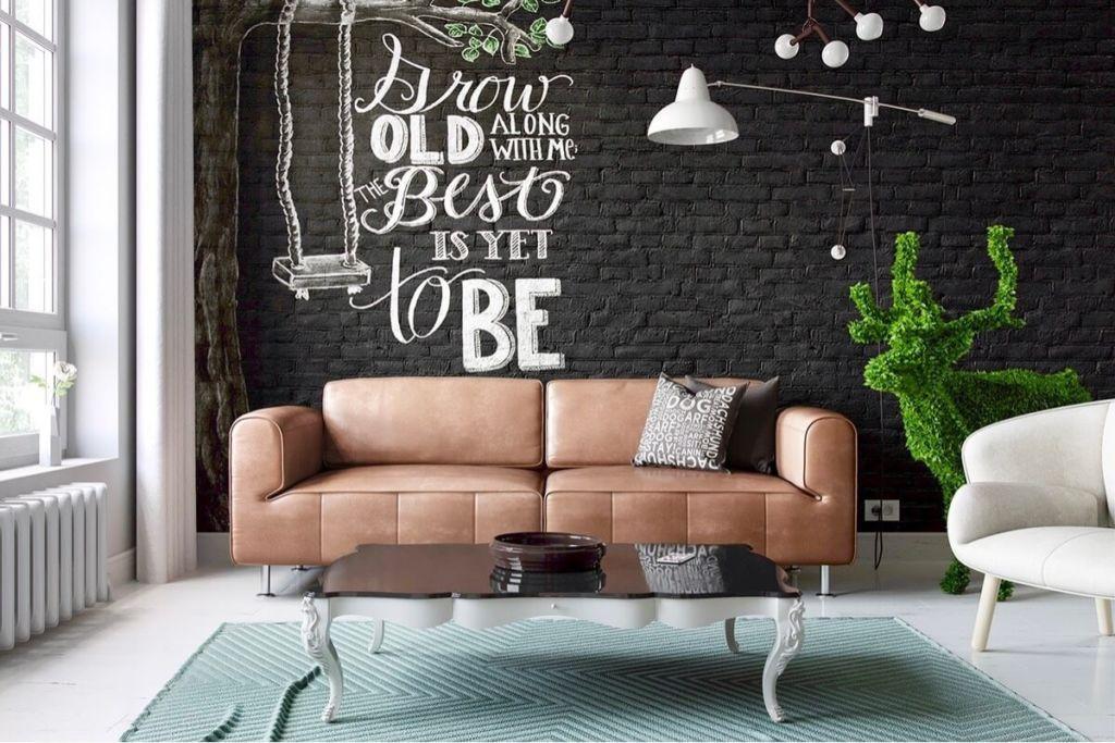 Кирпичная стена в комнате — это элемент декора, выделяющийся на фоне общего оформления