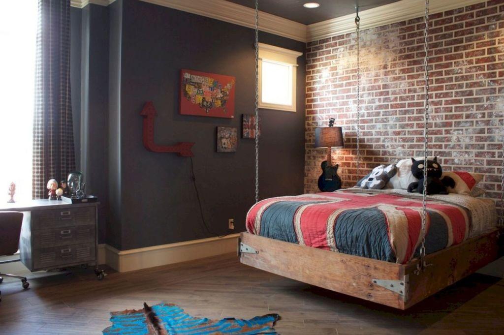 Спальни в стиле лофт в интерьере