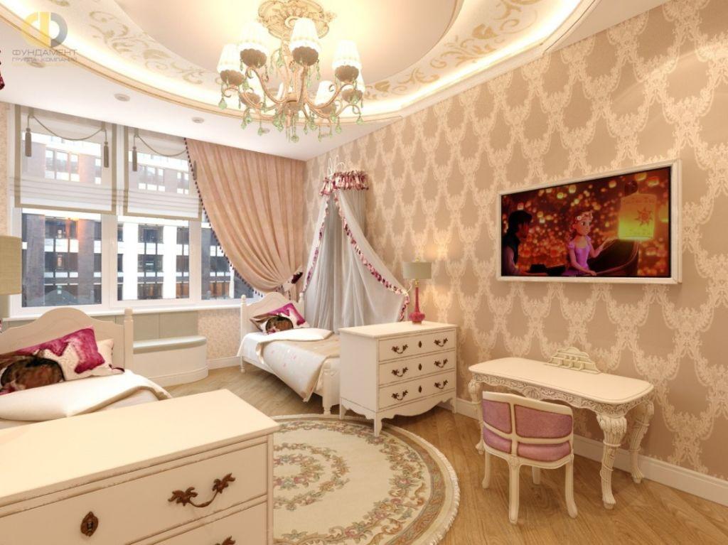 Мебель в классическом стиле для комнаты девочки