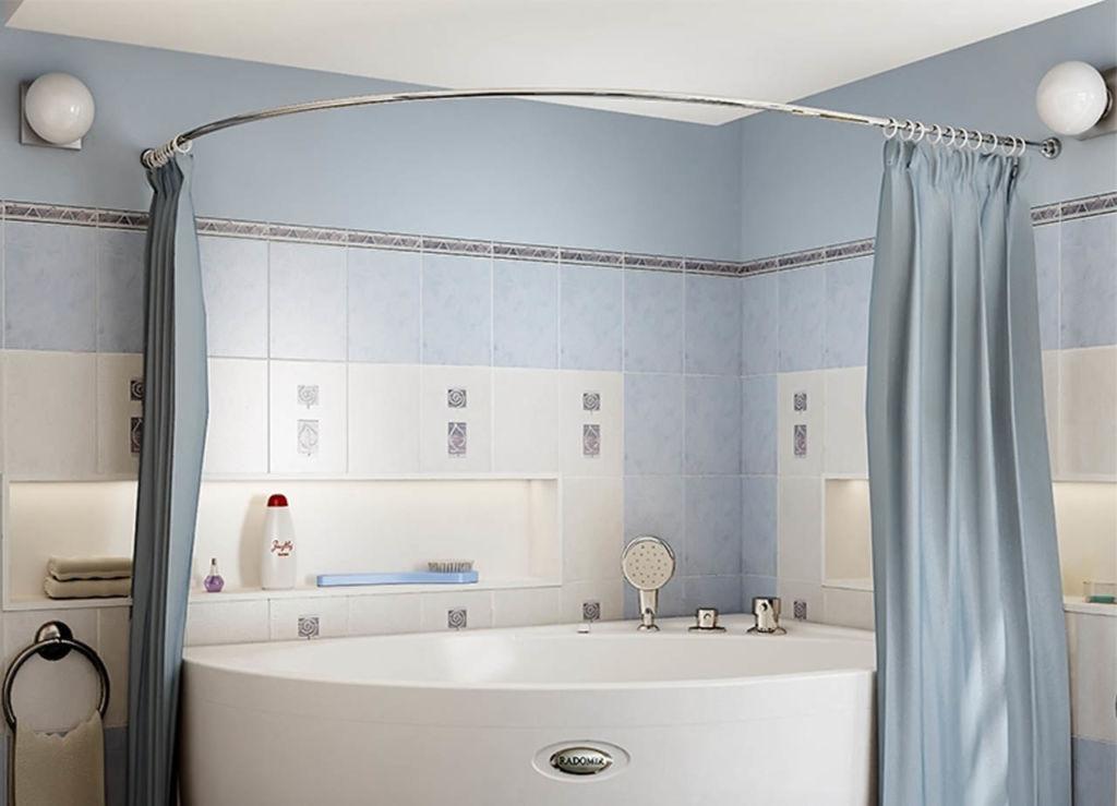 Дуга для шторки в ванную полукруглая