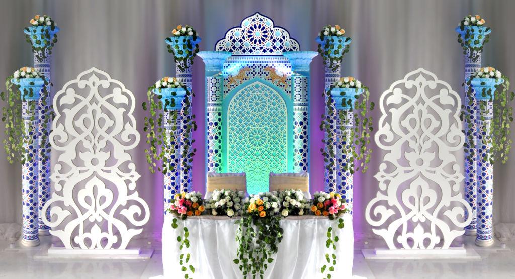 Оформление свадебного зала в восточном стиле