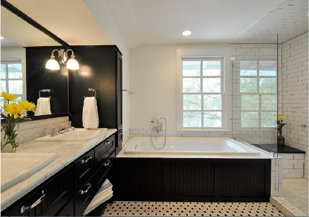 Очень важным элементом декора в ванной комнате считается мебель