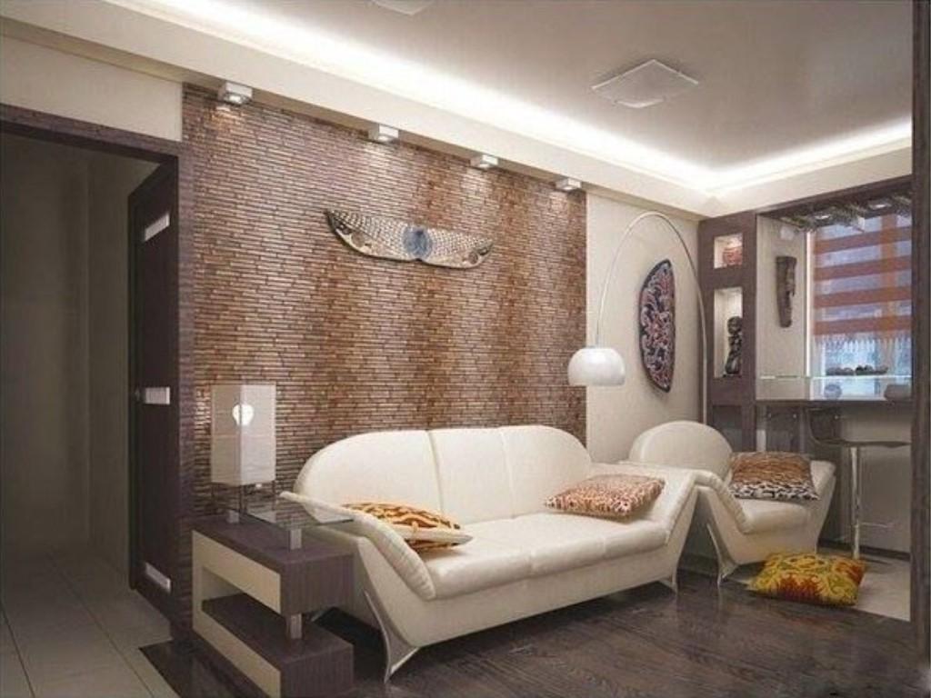 Дизайн зала в хрущевке с балконом