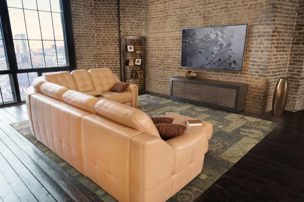 Вариант дизайна с минимальным количеством мебели