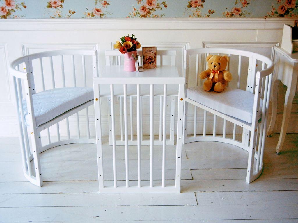 Круглая детская кровать трансформер