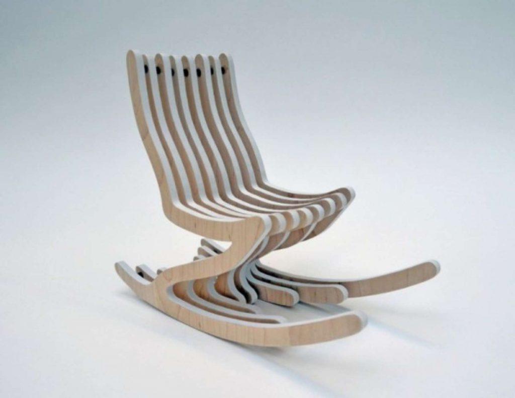 Кресло качалка на полозьях