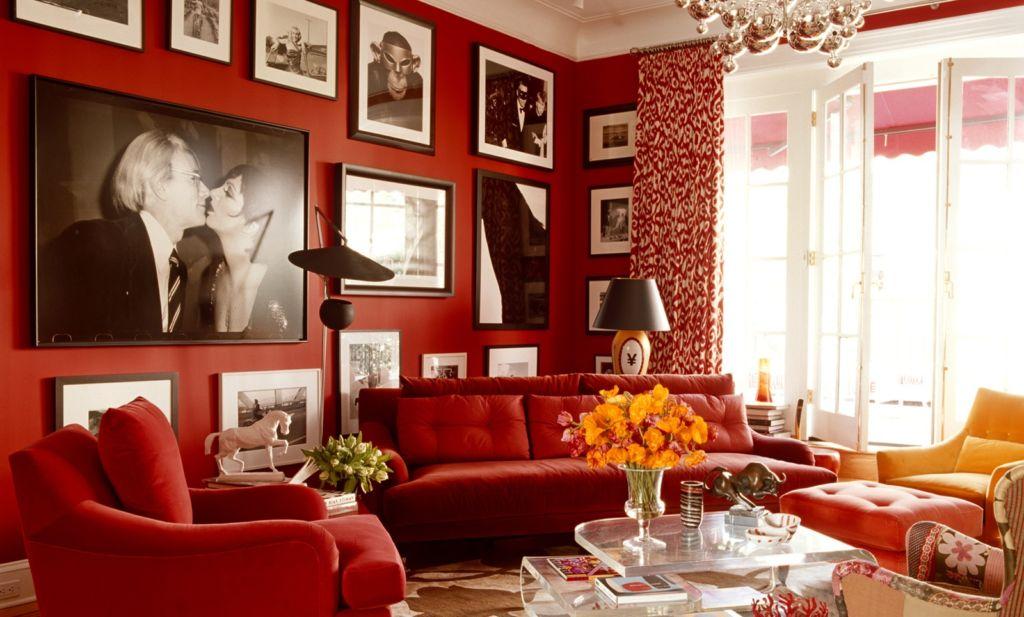 Дизайн интерьера квартиры в красном цвете