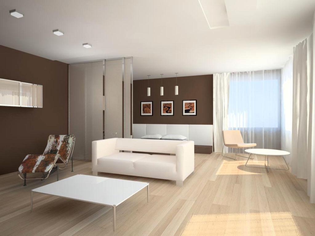 Для оформления стен в стиле минимализм успешно используется декоративная штукатурка