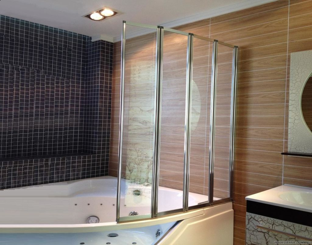 Шторы гармошка для ванной