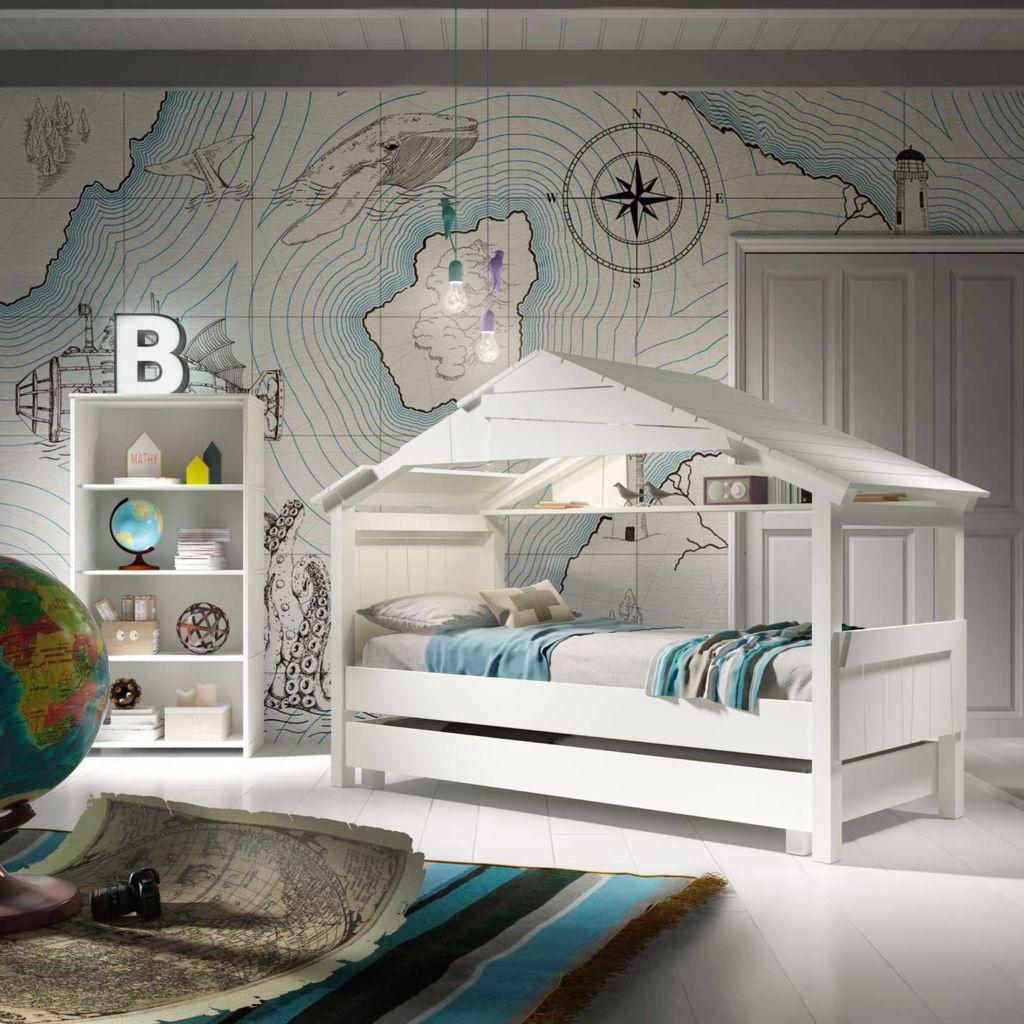 Кровать для морского интерьера