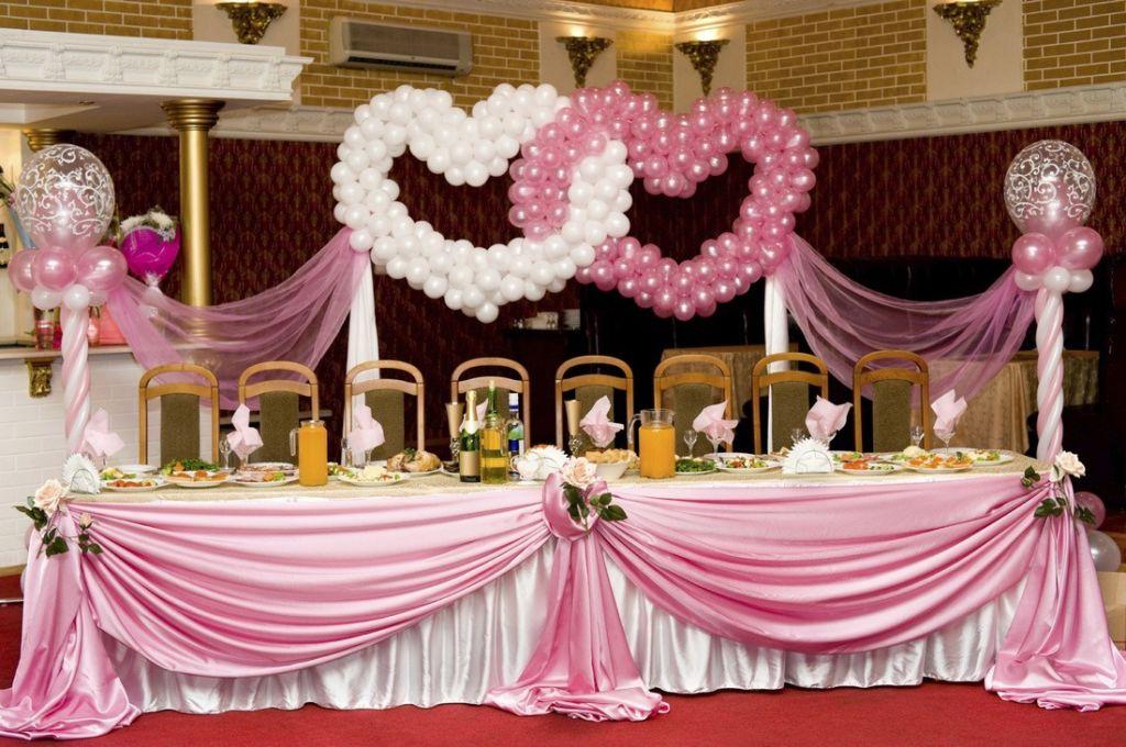 Свадебный зал - оформление шариками