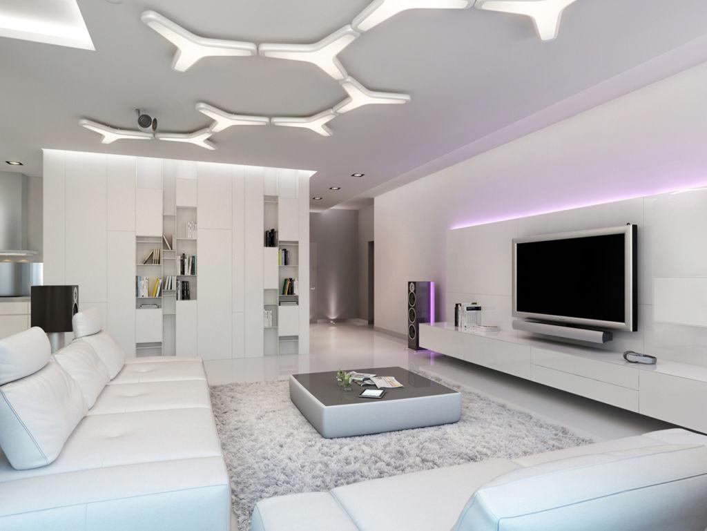 Белая гостиная – это свежий, невесомый, романтичный и изящный интерьер