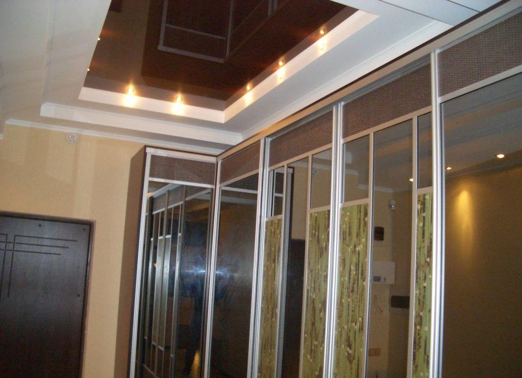 стекло навесной потолок в коридор фото шторы балконную