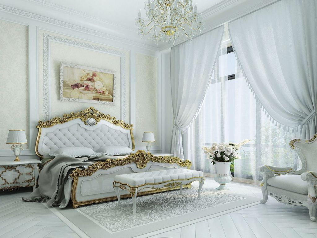 Легкие шторы на окнах комнате придают завершенный и обжитый вид