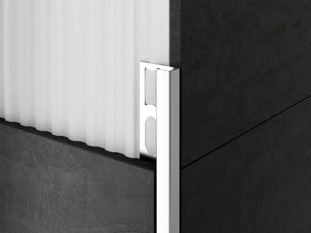 Уголок наружный для плитки (квадрат) из нержавеющей стали