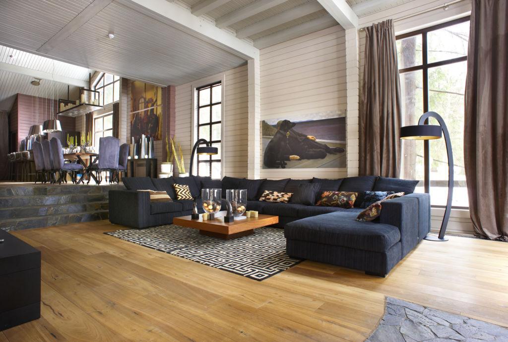 Эффектная гостиная в стиле минимализм