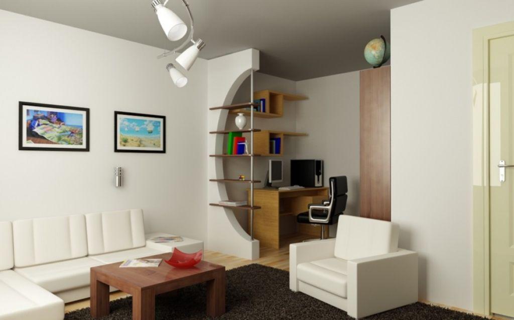 В большой гостиной можно устанавливать перегородки, визуально отделяя одну зону от другой