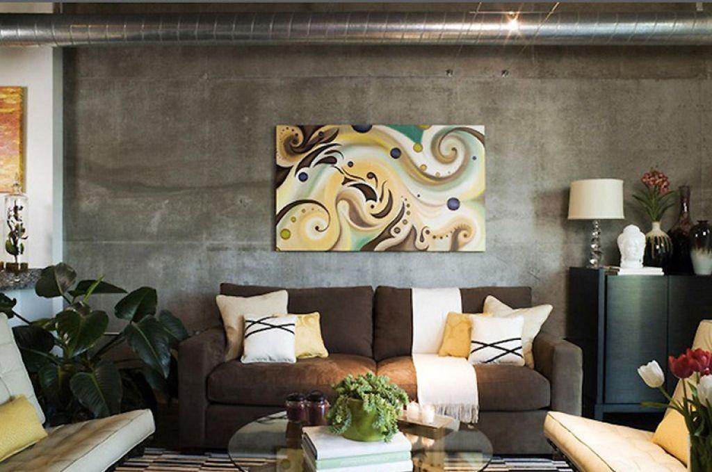7 основных видов декора стен гостиной в современном стиле